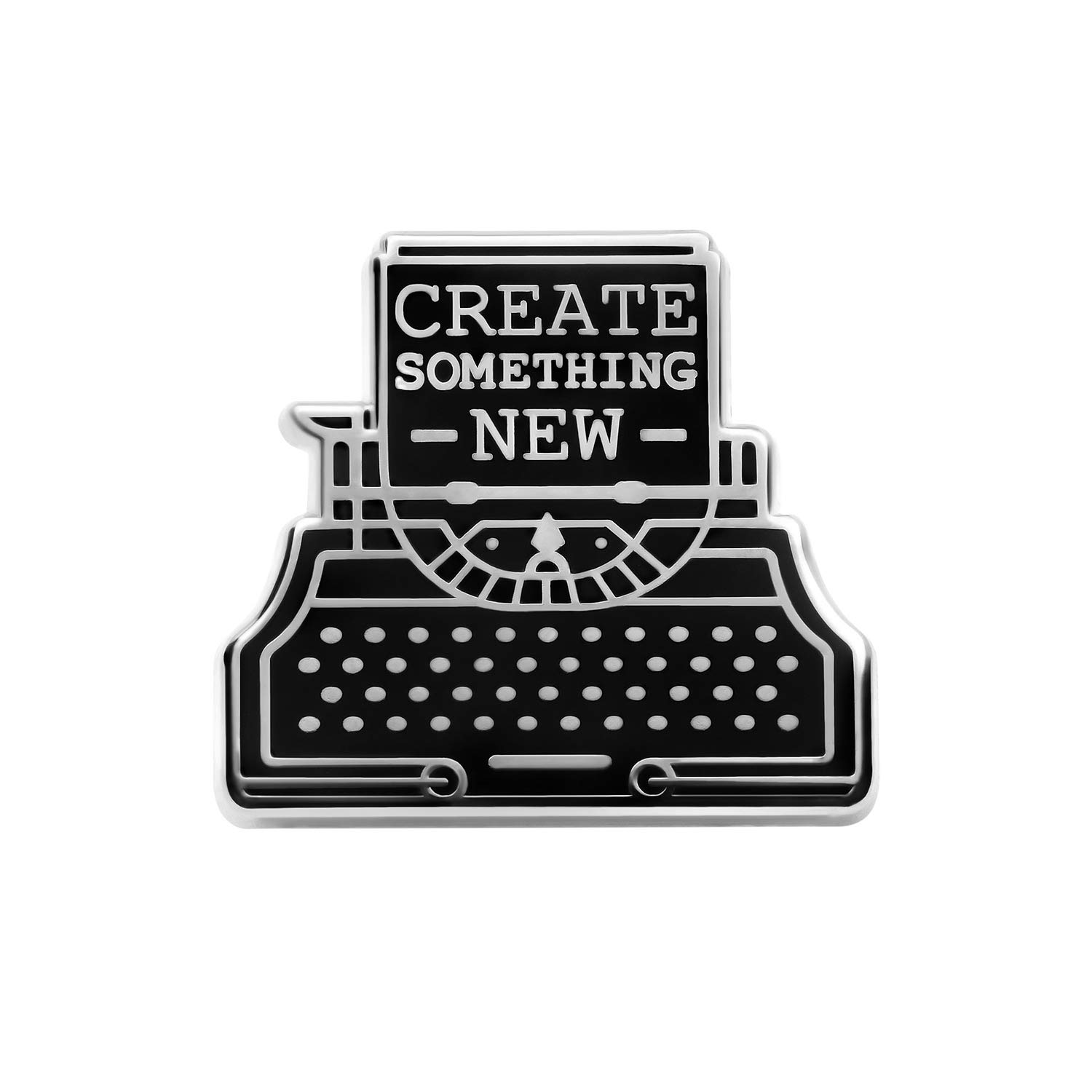 Asilda Store Create Something New Typewriter Lapel Enamel Pin [With Deluxe Pin Lock] 4336833850