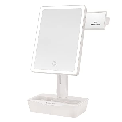Small Lighted Makeup Mirror.Amazon Com Songmics Large Led Lighted Makeup Mirror With