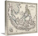 Wall Art Print entitled Vintage Map Of Indonesia And The Philippines by Alleycatshirts @Zazzle