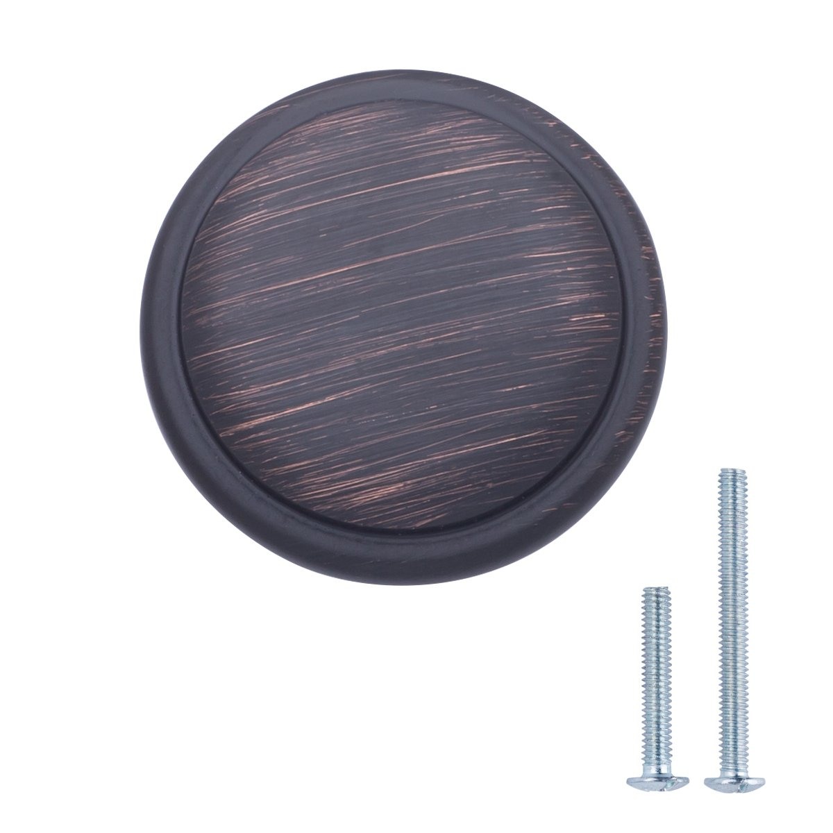 2.90 cm de di/ámetro plata envejecida con forma de seta aplanada paquete de 10 Basics Pomo de armario