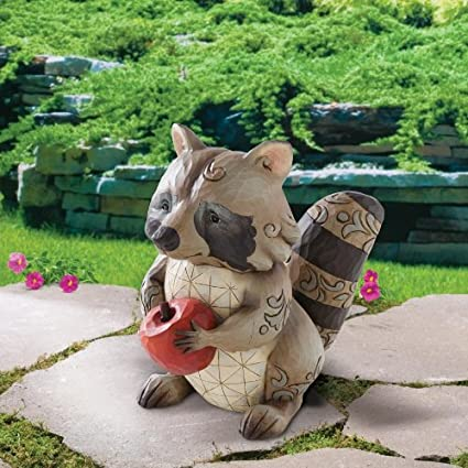 JIM SHORE RACCOON GARDEN STATUE Figurine 4009750 NIB