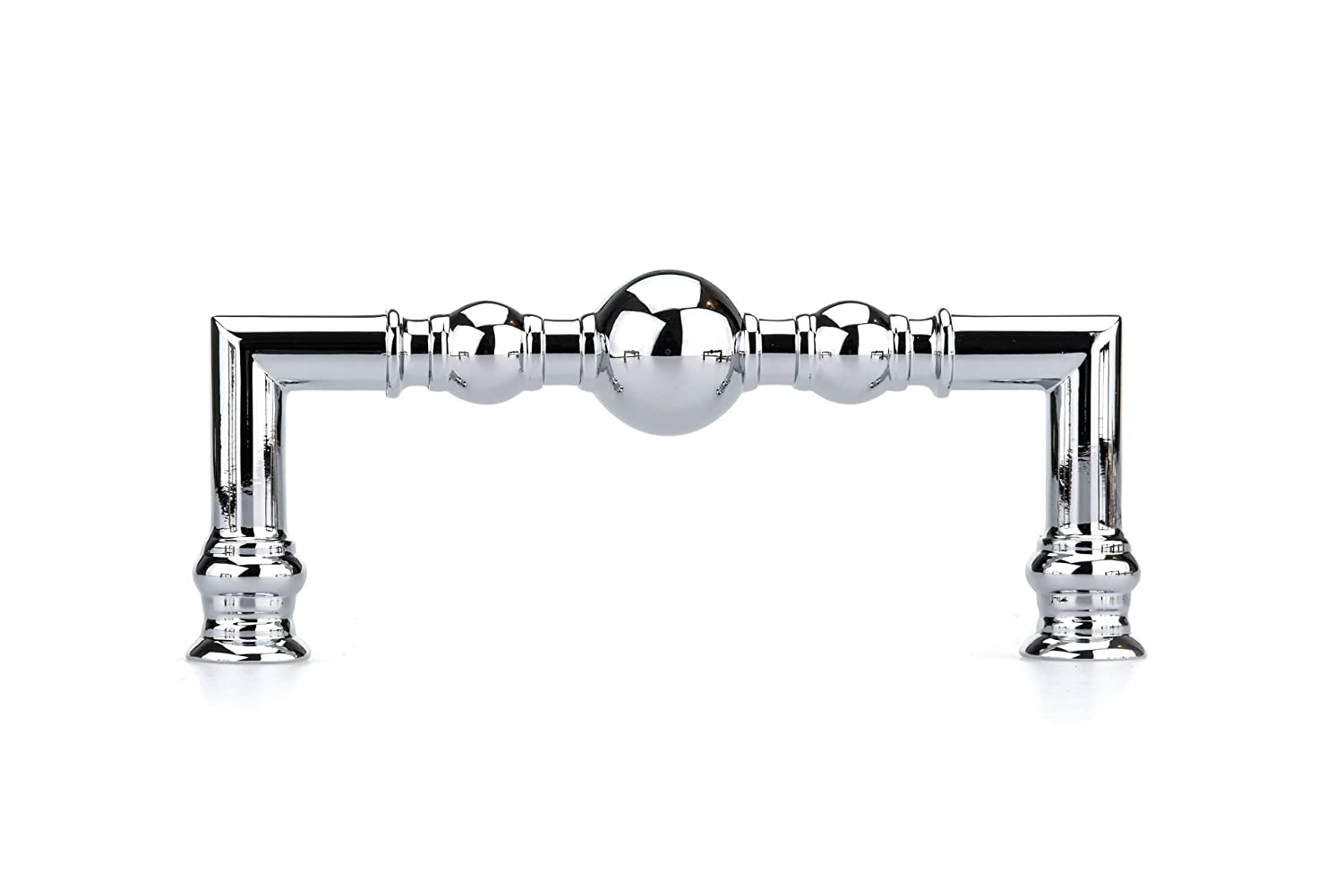 96 mm Traditional Metal Pull 8789-3 25//32 in Richelieu Hardware BP878996140 - Chrome  Finish