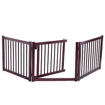 Amazon Com Foldable 24 Freestanding Pet Fence Dog Safety Gate W