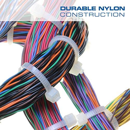 QualGear CT5-B-100-P Self-Locking Cable Ties, 8-Inch, Black 100/Poly Bag by QualGear (Image #2)