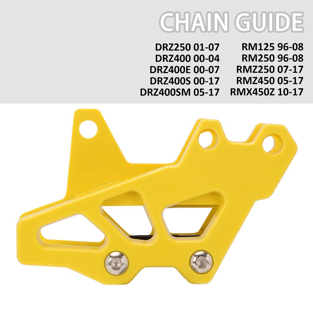 AnXin Motorcycle Plastics Chain Guide Guard Protection For Suzuki DR-Z400 2000-2004 DR-Z400E 2000-2007 DR-Z400S 2000-2018 Motorbike Motocross Blue