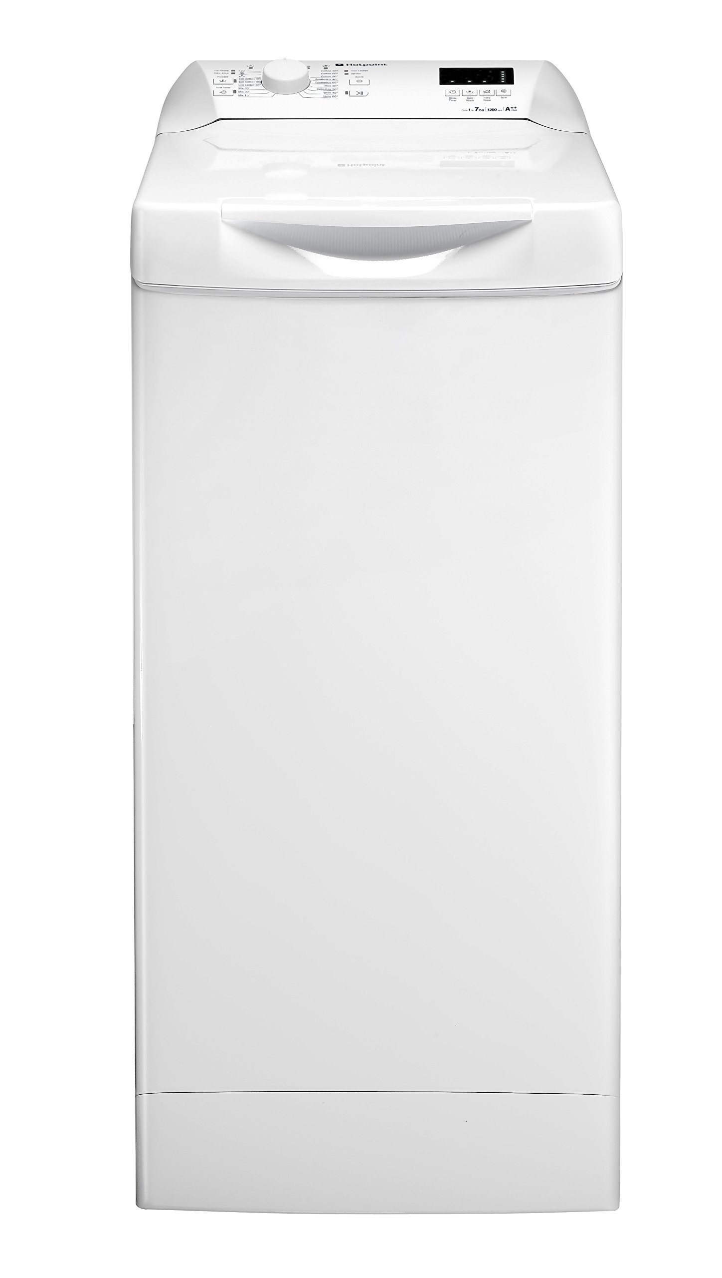 Hotpoint WMTF722H Aquarius 7kg 1200rpm Top Loading Freestanding Washing Machine - White [Energy Class A++]