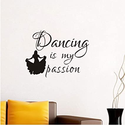 Amazoncom Yyfdy Dancer Girl Vinyl Wall Decal Quotes Dancing Is My