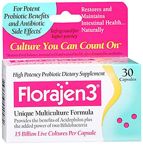 Florajen 3 Probiotic Supplements, 30 Count