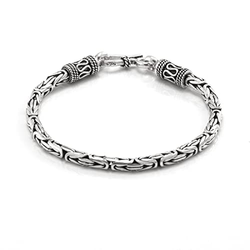 comprare on line d5acb d1b82 Silverly Bracciale Uomo Argento .925 Stile Bizantino Snake