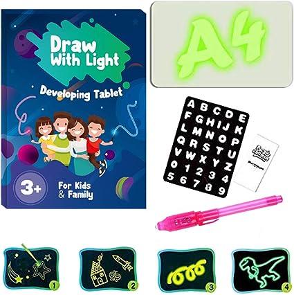 LED Luminous Light Drawing Board Graffiti Doodle Drawing Tablet Magic Board