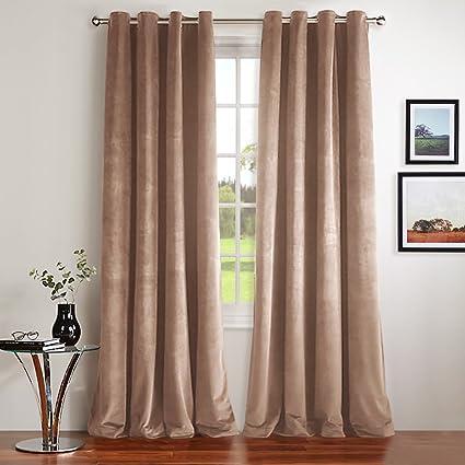 NICETOWN Velvet Curtains Blackout Window Treatment