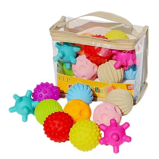 Pelota de juguete para bebé con textura sensorial para entrenar al ...