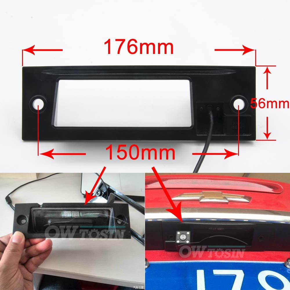 HD 720p Backup Camera Waterproof Rear-View License Plate Rear Reverse Parking Camera for Chevy Chevrolet Cruze 2015-2017