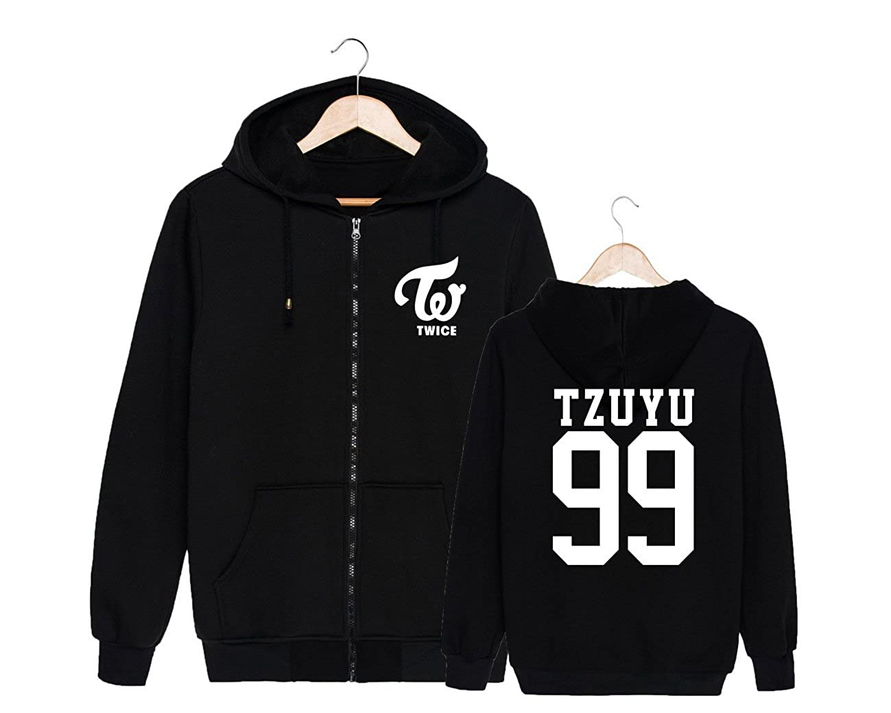 ALLDECOR Twice Thick Hooded Pullover Sweater Kpop Cotton Long Sleeve Hoodie Coat