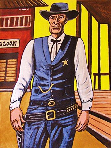 GARY COOPER PRINT POSTER man cave movie High Noon dvd western blu-ray disc cowboy six gun marshal Will Kane