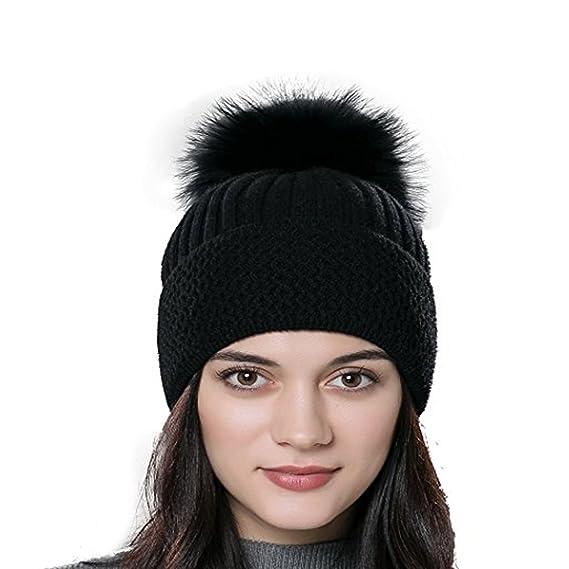 b41e0d7cd51 Bonnet femme hiver   Tuques d hiver   Bonnet chapeau femme unisexe laine  tricoté avec