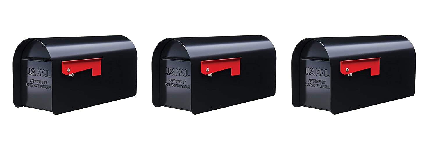 Gibraltar Mailboxes Ironside Large Capacity Galvanized Steel Black