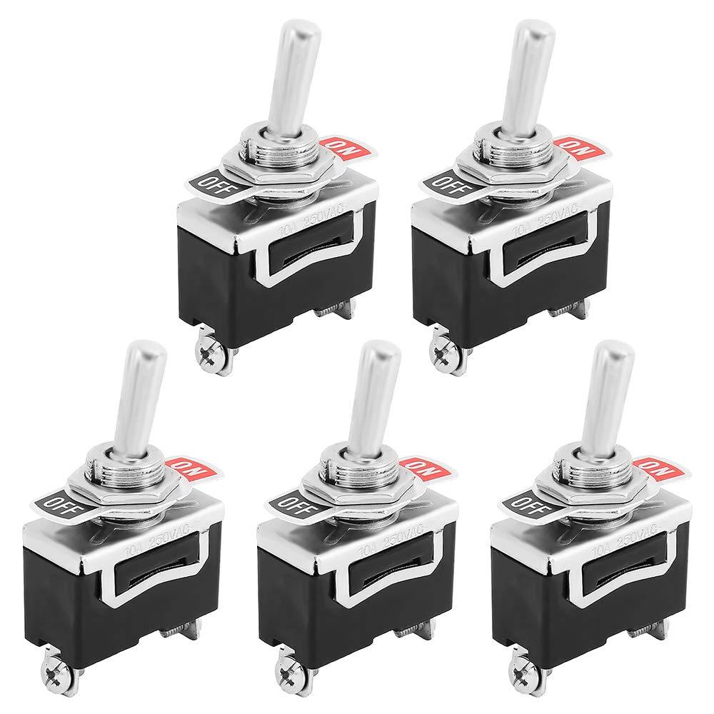 5 pezzi interruttore a bilanciere SPST 2 poli on//off 12 V 24 V 220 V 230 V