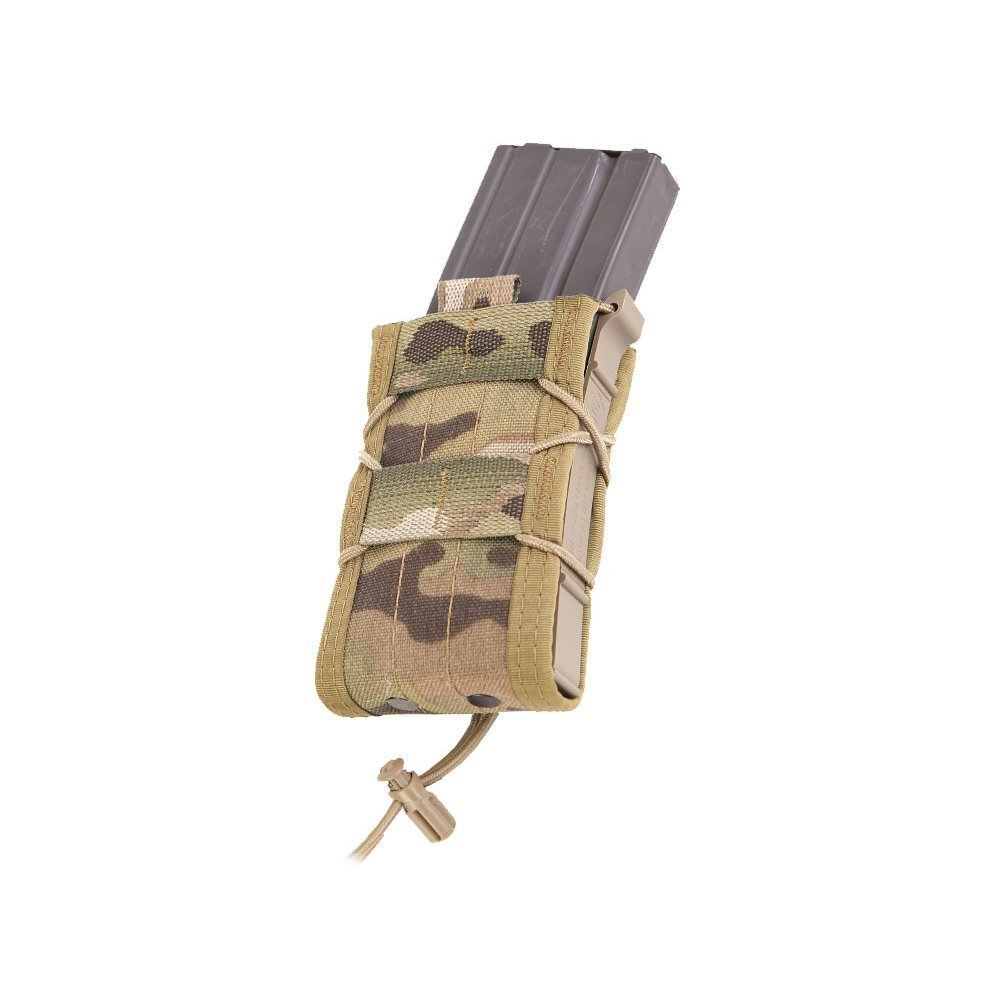 High Speed Gear Single Rifle Taco Pouch | Universal Rifle Magazine Holster | Rapid Response and MOLLE Compatible (Multicam, One Pack) by High Speed Gear