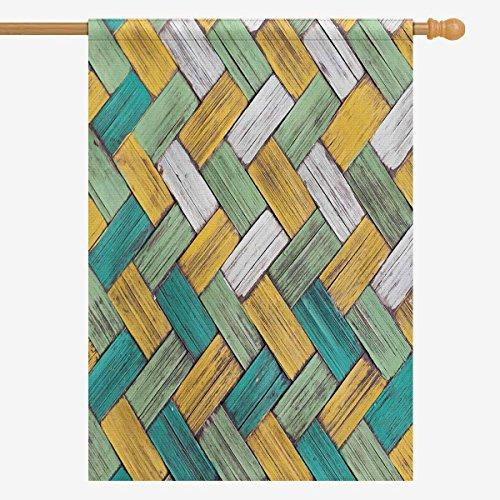 InterestPrint Vintage Wood Bamboos Wicker Texture Background