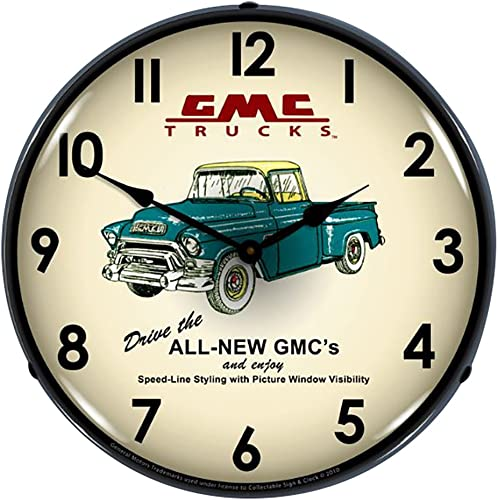 Collectable Sign and Clock GM1001234 14 GMC Trucks 1956 Lighted Clock