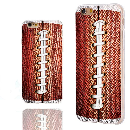 iPhone 6s Case,iPhone 6 Case,Case for iPhone 6 6s 4.7 Inch,ChiChiC [Cute Series] Full Protective Slim Flexible Durable Soft TPU Cases,funny brown football