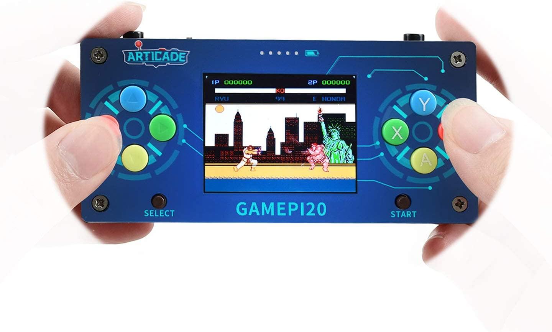 Waveshare GamePi20 a Mini Retro Video Game Console Based on Raspberry Pi Zero/Zero W/Zero WH 2.0inch IPS Display