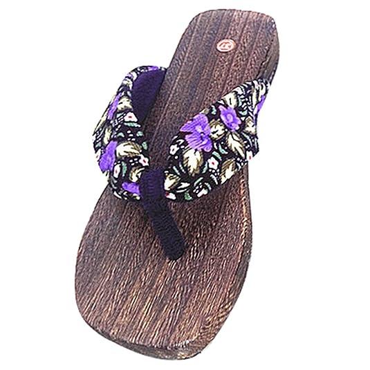 Highdas Mädchen der Frauen Holzschuh Flip Flops Schuhe H4 235 8vJfkzQd