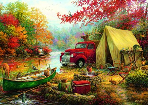 Anatolian Share The Outdoors 1500 Piece Jigsaw Puzzle, Camping Jigsaw Puzzle, Outdoor Activity And National Parks Puzzles, Camp Games Kids And Adults Love