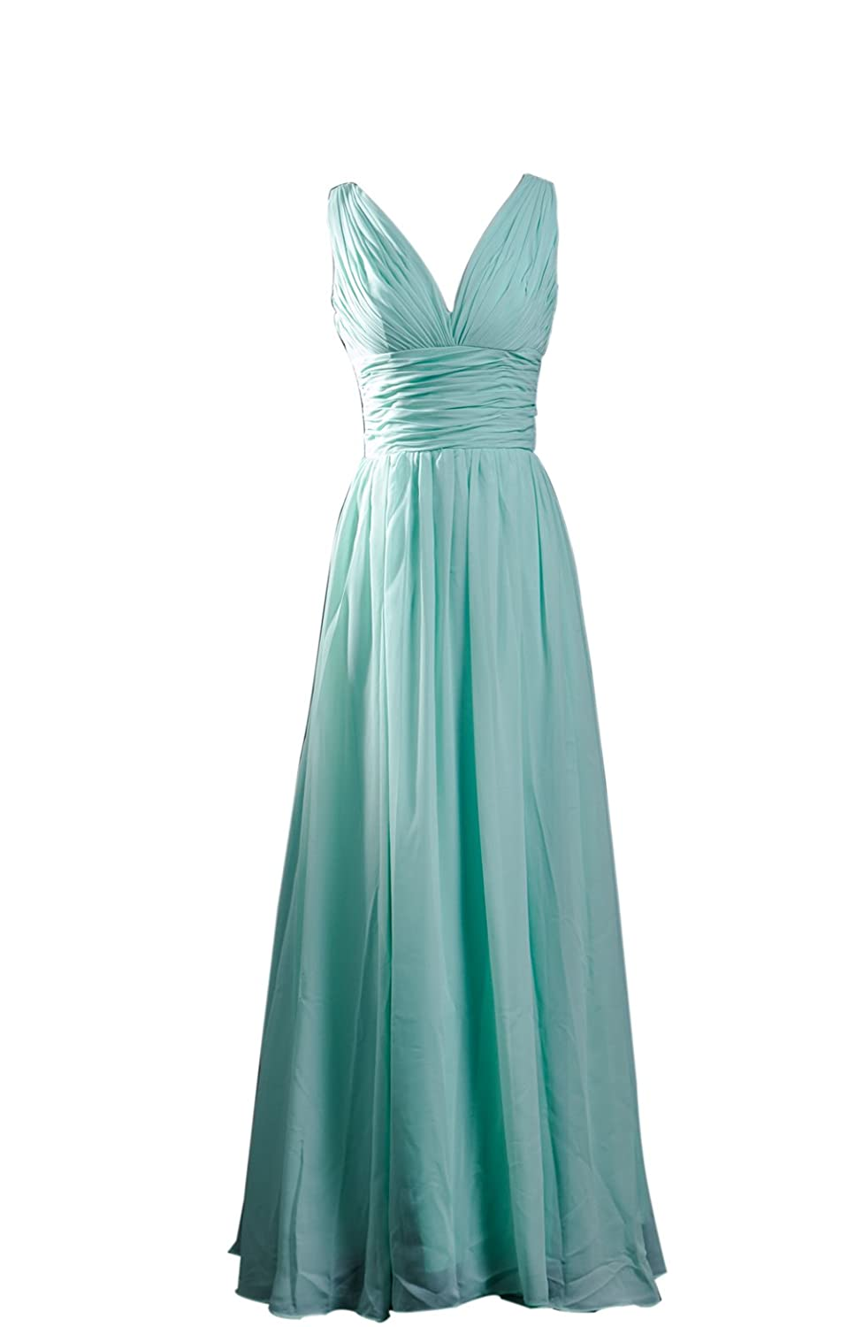SimpleDressUK Long Chiffon Simple V-Neck Evening Prom Cocktail Dresses