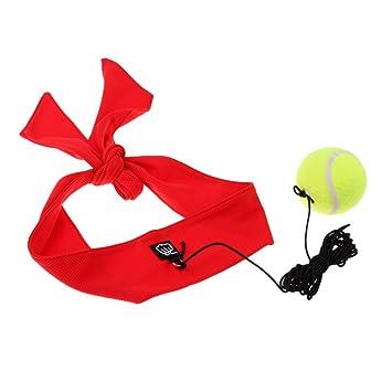 Baoblaze 1 Pieza de Pelota Bola de Entrenamiento de Velocidad con Cinta de Cabeza + Cuerda Multiusos de Boxeo - rojo: Amazon.es: Deportes y aire libre