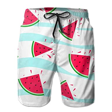 3d5f1f5d68422 CHI-M Men's Quick-Dry Swimwear Watermelon Wave Swim Trunks Board ...
