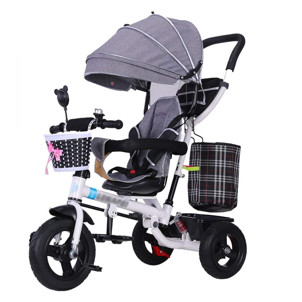 201dfb4f39 Tram Tram Tram 4-in-1 Passeggino per Bambini Trike Bike con Imbracatura di  Sicurezza e Ammortizzatore Kids'Tricycle per 6 Mesi - 5 Anni fba40c