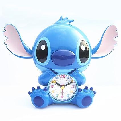 YOURNELO Cute Cartoon Stitch Boys Girls Alarm Clock