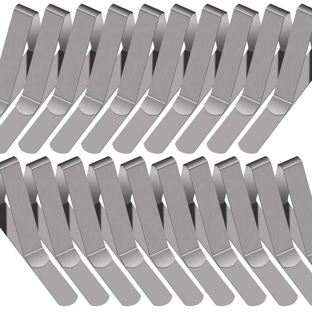 PAXCOO 30 Packs Tablecloth Clips Stainless Steel Table Cover Clamps