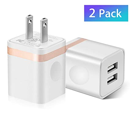 USB Wall Charger Plug Dual Port Quick Charger Plug