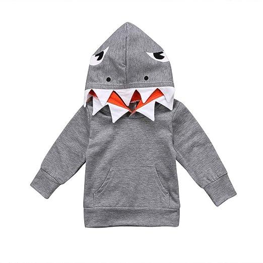 20f9b31b03e9 Amazon.com  Staron Infant Baby Boy Girls Cute Shark Hoodie Long ...