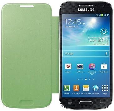 Samsung Flip - Funda para móvil Galaxy S4 Mini (Permite hablar con la tapa cerrada, sustituye a la tapa trasera), color verde: Amazon.es: Electrónica