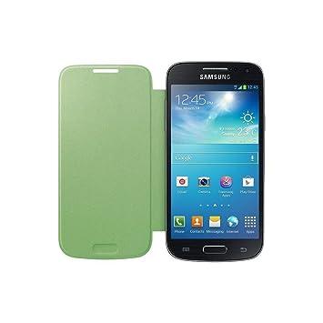 Samsung Flip - Funda para móvil Galaxy S4 Mini (Permite hablar con la tapa cerrada, sustituye a la tapa trasera), color verde