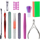 11PCS Nail Files Set Professional Nail Tool Kit with Buffer Including Cuticle Trimmer/Cuticle Pusher/Nail Dust Brushes…