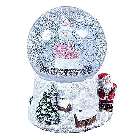 The Christmas Workshop 15 Cm Musical Polyresin Christmas Snow Globe