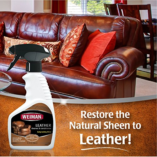 weiman leather cleaner and conditioner uv protection help prevent cracking or fading of leather. Black Bedroom Furniture Sets. Home Design Ideas
