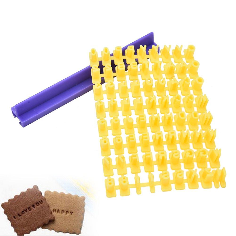 Supershopping Letter Number Cookie Stamp DIY Tool, Alphabet Biscuit Cutter Embosser