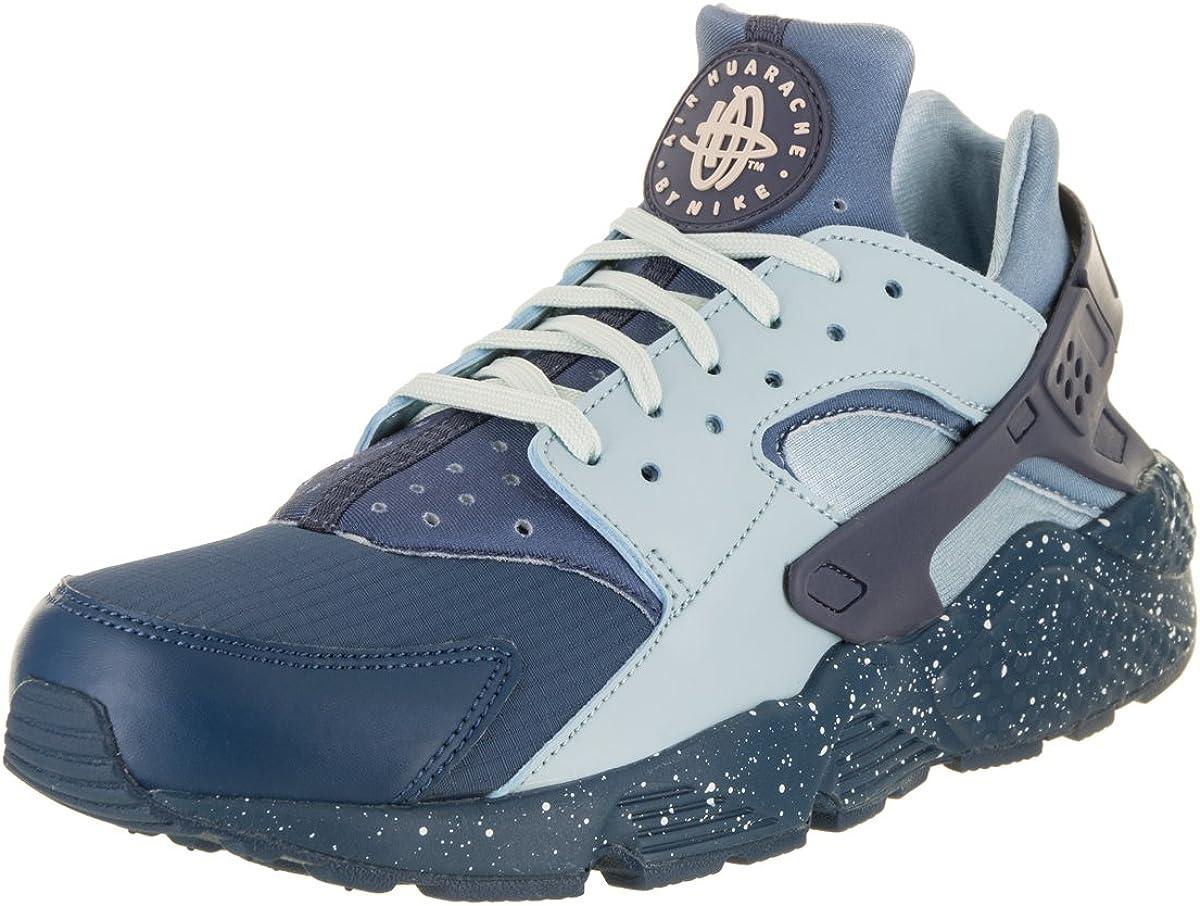 NIKE Men's Huarache Run Premium Blue Force/Diffused Blue Running Shoe 8 Men  US