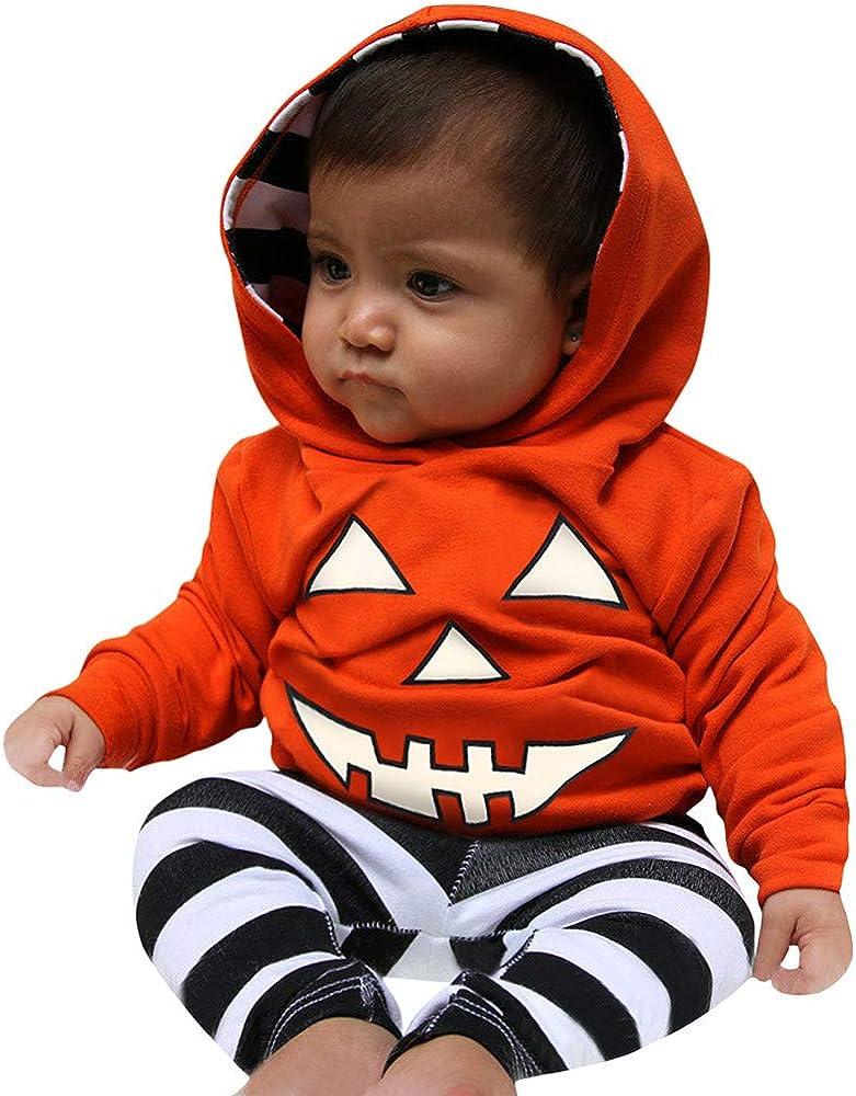 MAYOGO Halloween Bebe Niño Traje Calabaza Estampado Conjunto Ropa ...