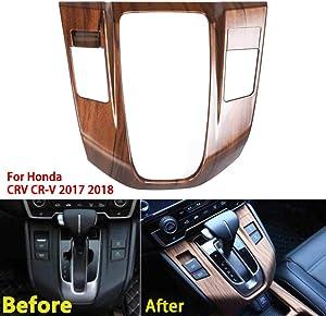 Elliot Jonah Peach Wood Grain Interior Gear Shift Panel Trim Cover Frame Decor Sticker for Honda CRV CR-V 17-2019