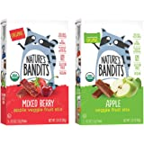 Nature's Bandits Organic Fruit & Veggie Stix, Variety Pack (Mixed Berry & Apple), 0.6 Ounce 5 Pack (2 Count) Gluten Free, Veg