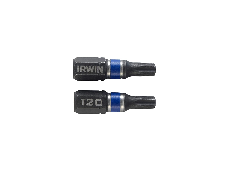 IRWIN 1923326 Impact Screwdriver Bits 25 mm T10 Pack of 2