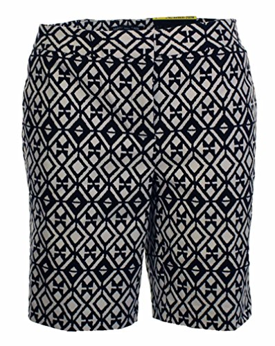 Mario Serrani Ladies' Bermuda Short Blk/White,12 (Bermuda Lady)