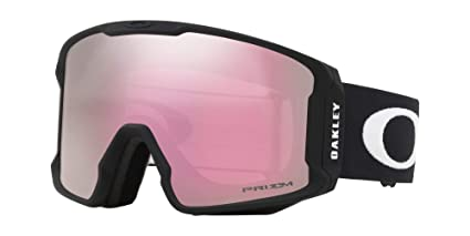 803902974f Image Unavailable. Image not available for. Color  Oakley Line Miner Adult  Snowmobile Goggles - Matte Black Prizm Hi Pink Iridium Medium